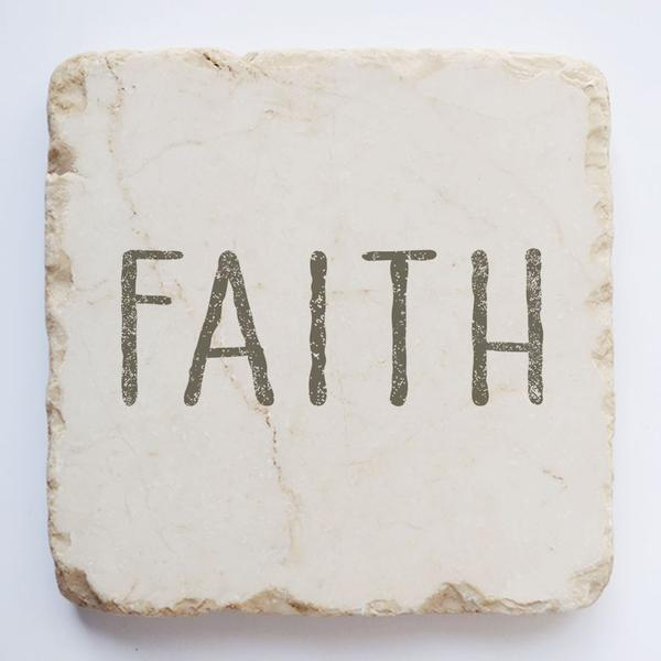 Faith Scripture Stone - Small Block, & Half Block