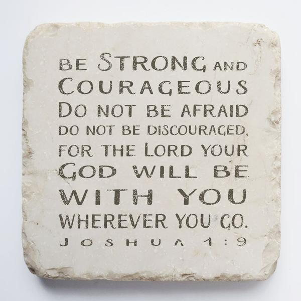 Joshua 1:9 Scripture Stone - Small Block
