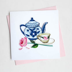 Tea Party Quilling Card