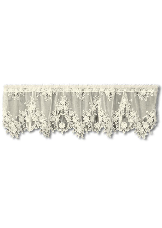 Heritage Lace Tea Rose Valance, Ecru