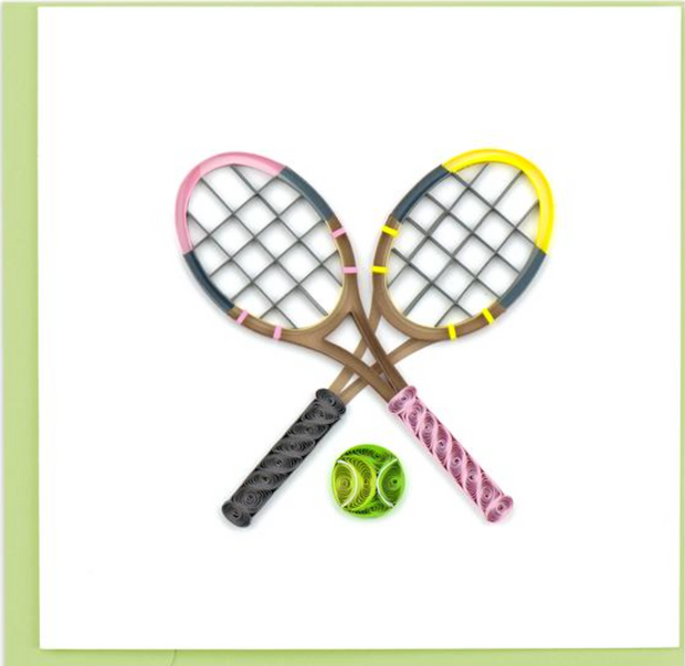 Tennis Rackets Quilling Card