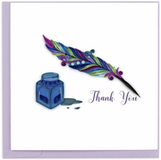 Thank You Quill & Ink Quilling Card
