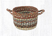 "Capitol Earth Rugs Honey/Vanilla/Ginger Braided Utility Basket, Mini 8"" x 6"""