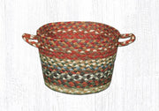 "Capitol Earth Rugs Honey/Vanilla/Ginger Braided Utility Basket, Small 9"" x 7"""