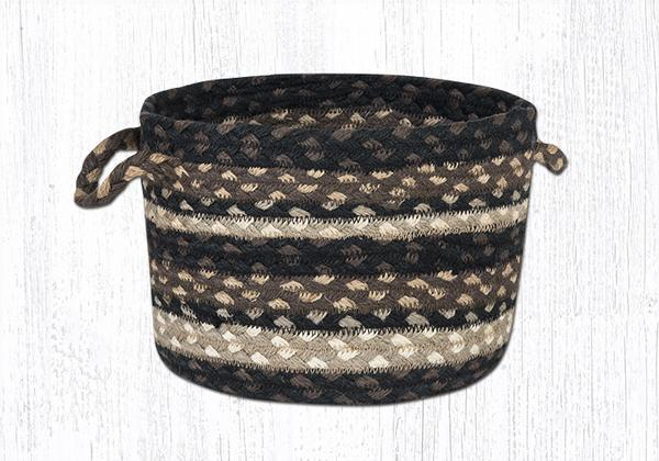 "Capitol Earth Rugs Mocha/Frappuccino Braided Utility Basket, Small 9"" x 7"""