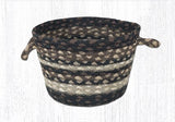 "Capitol Earth Rugs Mocha/Frappuccino Braided Utility Basket, Mini 8"" x 6"""