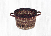 "Capitol Earth Rugs Black Cherry/Chocolate/Cream Braided Utility Basket, Mini 8"" x 6"""