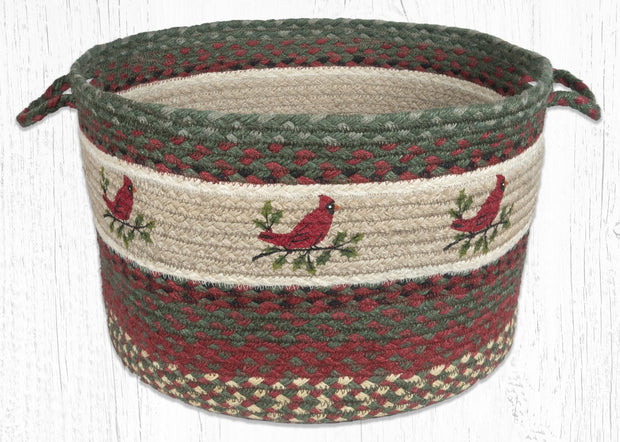 "Capitol Earth Rugs Holly Cardinal Printed Utility Basket, 17"" x 11"""