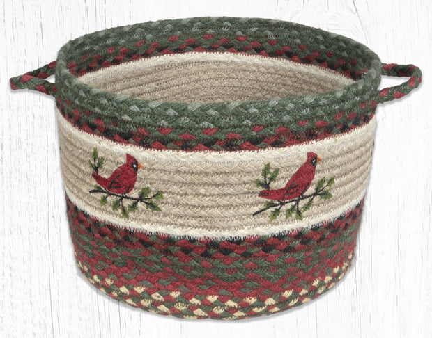 "Capitol Earth Rugs Holly Cardinal Printed Utility Basket, 13"" x 9"""