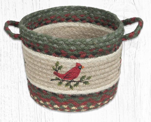 "Capitol Earth Rugs Holly Cardinal Printed Utility Basket, 9"" x 7"""