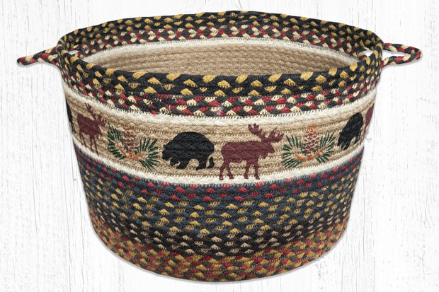 "Capitol Earth Rugs Bear & Moose Printed Utility Basket, 17"" x 11"""