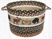 "Capitol Earth Rugs Bear & Moose Printed Utility Basket, 13"" x 9"""