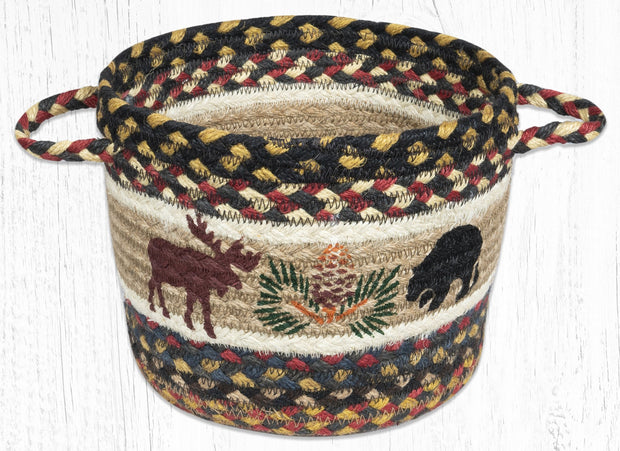 "Capitol Earth Rugs Bear & Moose Printed Utility Basket, 9"" x 7"""