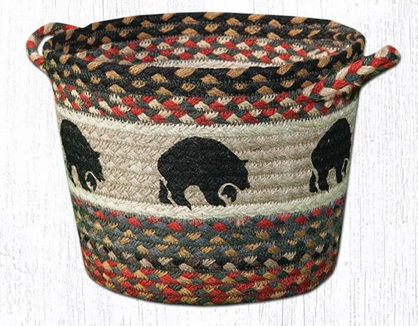"Capitol Earth Rugs Black Bear Printed Utility Basket, Large 17"" x 11"""