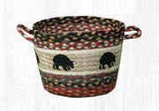 "Capitol Earth Rugs Black Bear Printed Utility Basket, Medium 13"" x 9"""