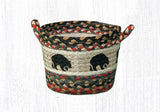 "Capitol Earth Rugs Black Bear Printed Utility Basket, Small 9"" x 7"""