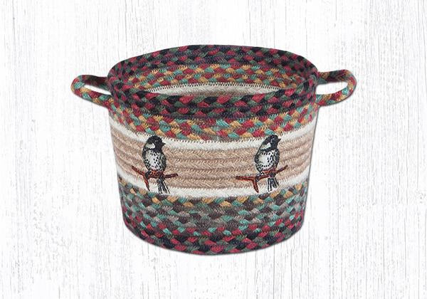 "Capitol Earth Rugs Chickadee Printed Utility Basket, Small 9"" x 7"""