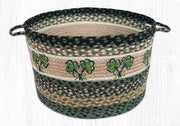 "Capitol Earth Rugs Shamrock Printed Utility Basket, Large 17"" x 11"""