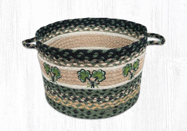"Capitol Earth Rugs Shamrock Printed Utility Basket, Medium 13"" x 9"""