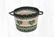 "Capitol Earth Rugs Shamrock Printed Utility Basket, Small 9"" x 7"""