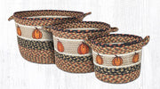 Capitol Earth Rugs Harvest Pumpkin Printed Utility Basket Collection