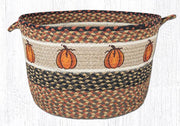 "Capitol Earth Rugs Harvest Pumpkin Printed Utility Basket, Large 17"" x 11"""