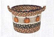 "Capitol Earth Rugs Harvest Pumpkin Printed Utility Basket, Small 9"" x 7"""