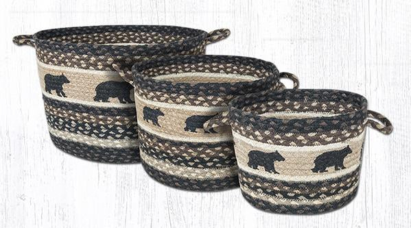 Capitol Earth Rugs Cabin Bear Printed Utility Basket Collection