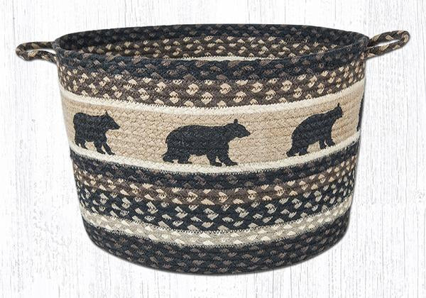 "Capitol Earth Rugs Cabin Bear Printed Utility Basket, Large 17"" x 11"""