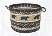 "Capitol Earth Rugs Cabin Bear Printed Utility Basket, Medium 13"" x 9"""
