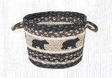 "Capitol Earth Rugs Cabin Bear Printed Utility Basket, Small 9"" x 7"""