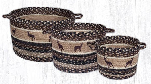 Capitol Earth Rugs Deer Silhouette Printed Utility Basket Collection