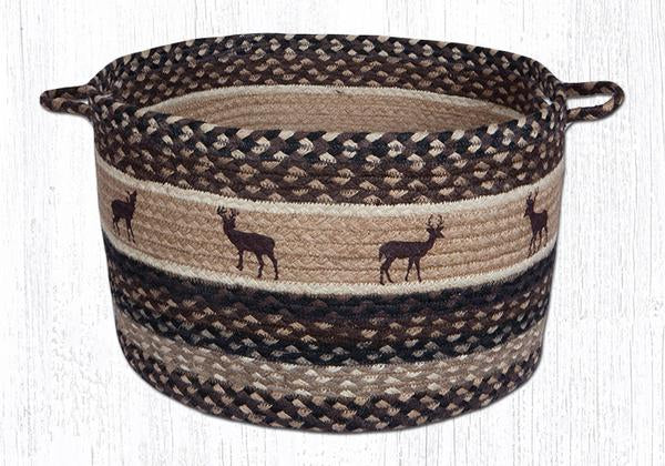"Capitol Earth Rugs Deer Silhouette Printed Utility Basket, Large 17"" x 11"""