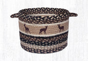 "Capitol Earth Rugs Deer Silhouette Printed Utility Basket, Medium 13"" x 9"""
