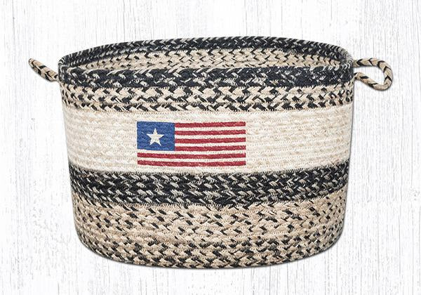 "Capitol Earth Rugs Original Flag Craft-Spun Utility Basket, Large 17"" x 11"""