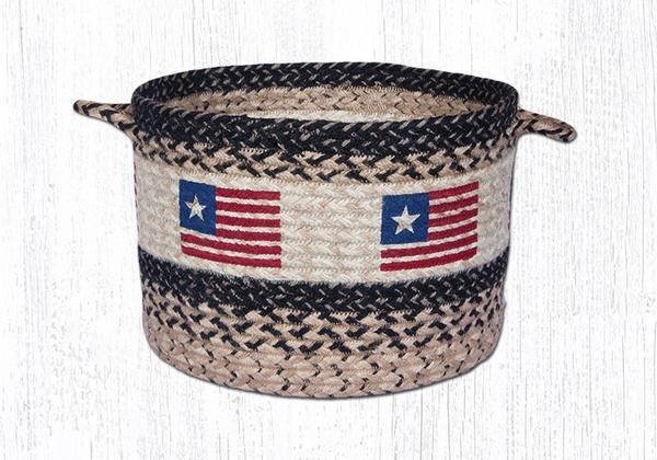 "Capitol Earth Rugs Original Flag Craft-Spun Utility Basket, Medium 13"" x 9"""