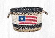 "Capitol Earth Rugs Original Flag Craft-Spun Utility Basket, Small 9"" x 7"""