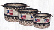 Capitol Earth Rugs Original Flag Craft-Spun Utility Basket Collection