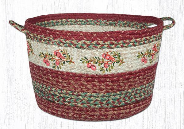 "Capitol Earth Rugs Cranberry Craft-Spun Utility Basket, Large 17"" x 11"""