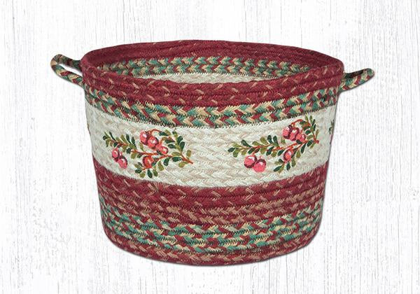 "Capitol Earth Rugs Cranberry Craft-Spun Utility Basket, Medium 13"" x 9"""