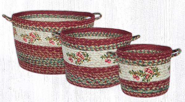 Capitol Earth Rugs Cranberry Craft-Spun Utility Basket Collection