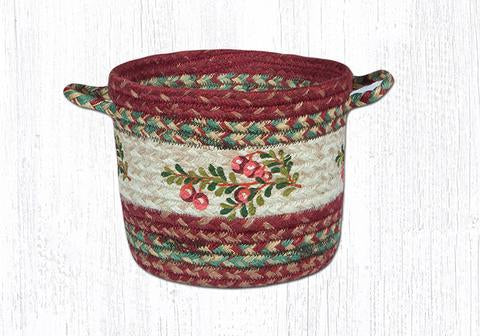 "Capitol Earth Rugs Cranberry Craft-Spun Utility Basket, Small 9"" x 7"""