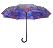 Galleria Unicorn Hair Reverse Close Umbrella