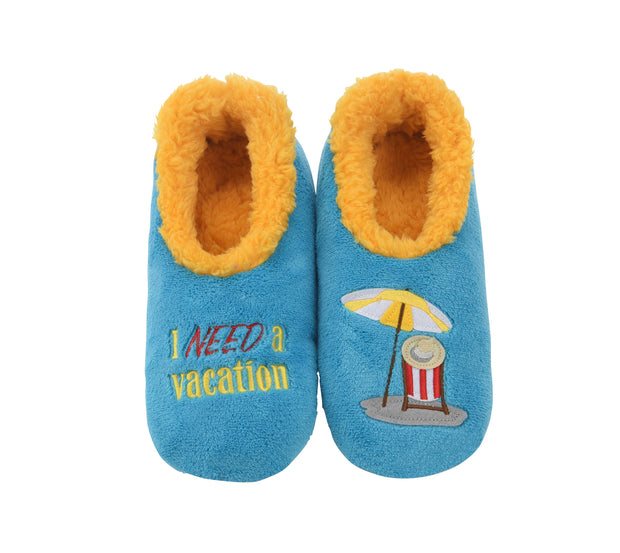 I Need a Vacation Snoozies Slippers for Women