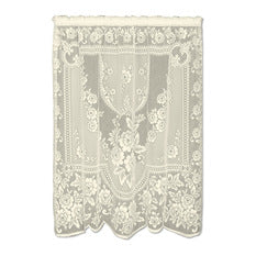 "Heritage Lace Victorian Rose Panel, Ecru, 60"" Wide x 84"" Drop"