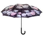 Galleria Vintage Roses Reverse Close Umbrella