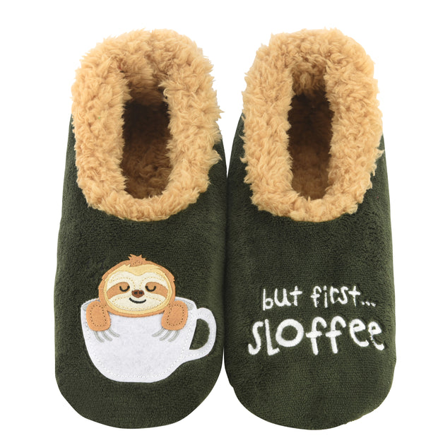 But First Sloffee Snoozies Slippers