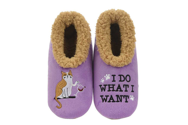 I Do What I Want Snoozies Slippers