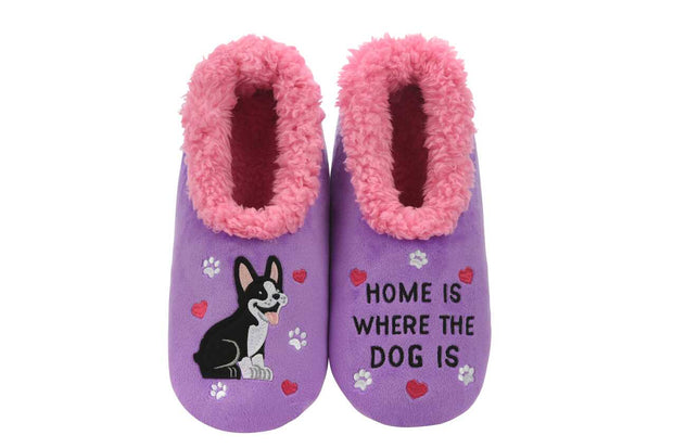Home is where the Dog Is Snoozies Slippers