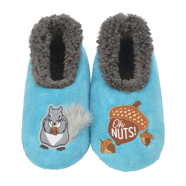 Squirrel Oh Nuts! Snoozies Slippers